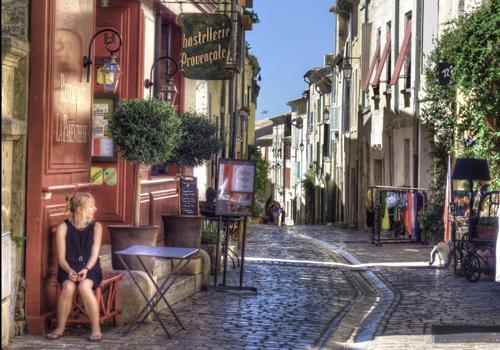 Uzes street scene