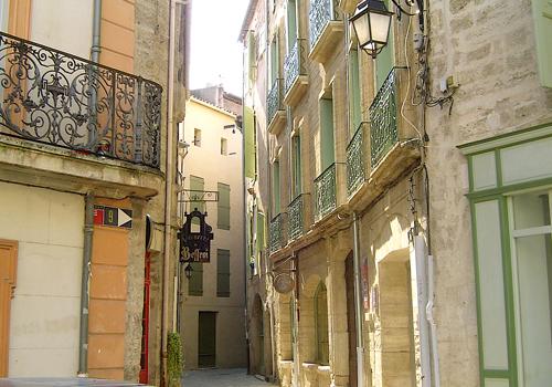 Pezenas street scene