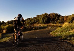 Cycling near Fos, Languedoc