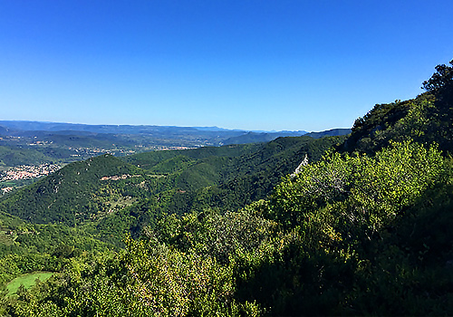 View over the hills in the Haut Languedoc