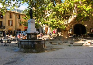 Central Square: St Guilhem le Desert, Languedoc, France