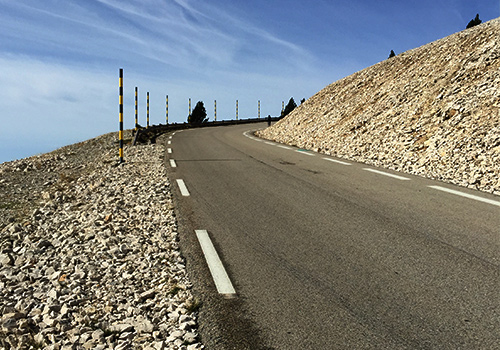 Road up Mont Ventoux, Provence