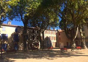 Central Square, St Gervais sur Mare, Languedoc, France