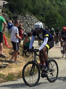 Ascending the Glandon before the race: TdF 2015