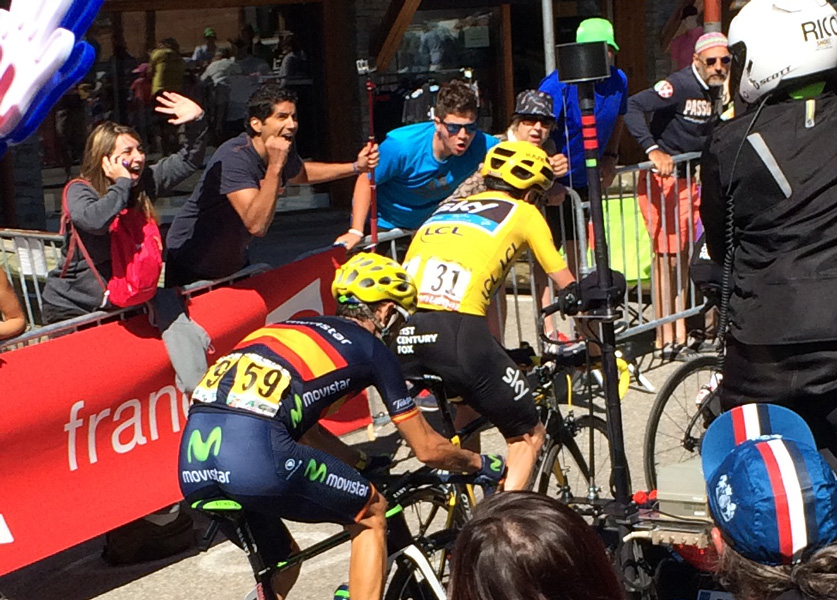 Chris Froome in Yellow Jersey, Stage 20 Tour de France 2015