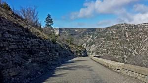 Descending into Cirque de Navacelles