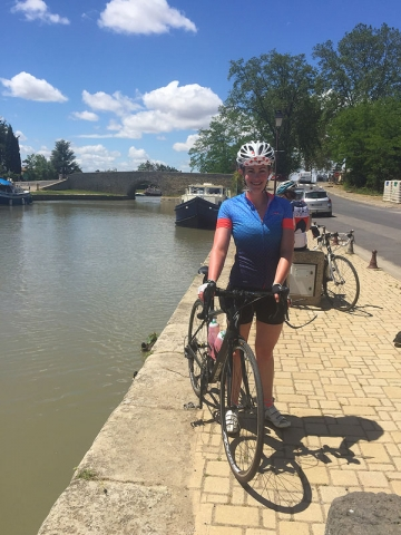 Cycling the Canal du Midi, at Capestang,