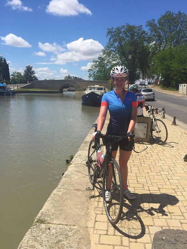 Cycling the Canal du Midi, at Capestang,