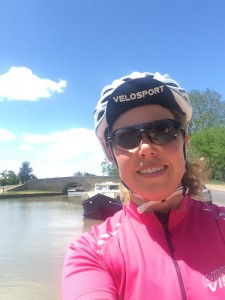 Break from Cycling at Capestang, Canal de Midi