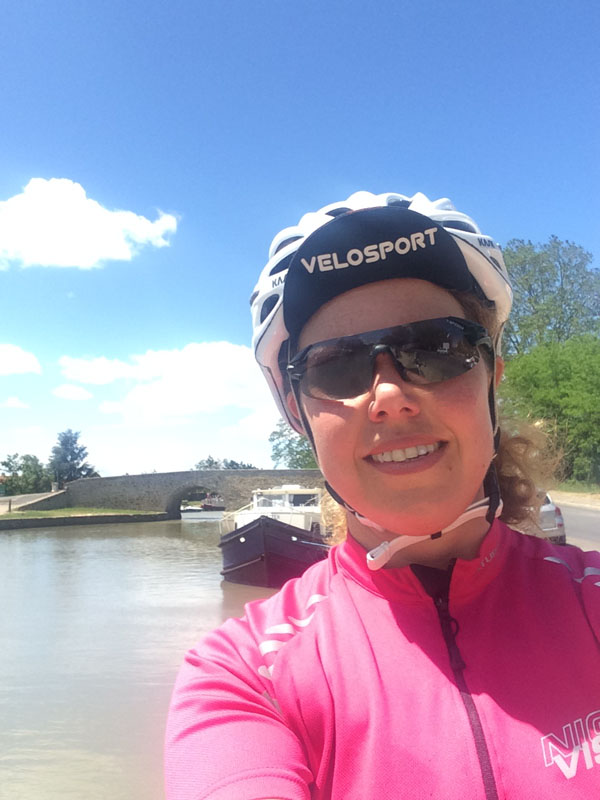 Break from Cycling at Capestang, Canal du Midi