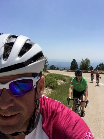 Cycling the final stretch, Mont Ventoux, Provence