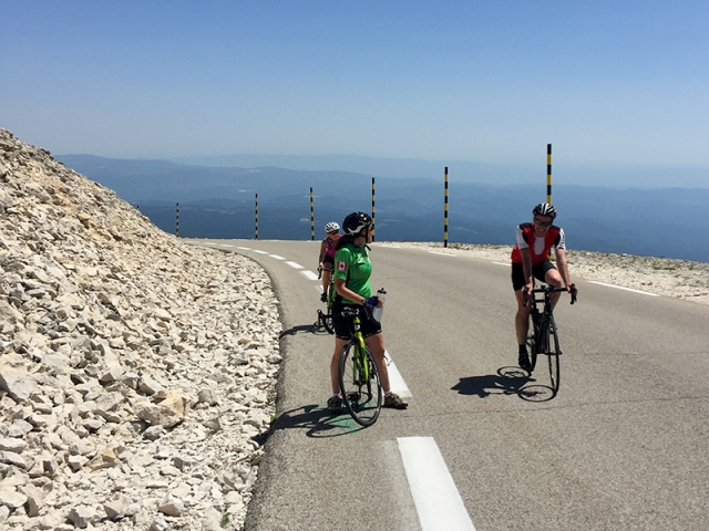 Stopping to admire the view, Mont Ventoux, Provence
