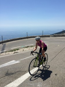 Ascending the final switchback, Mont Ventoux, Provence
