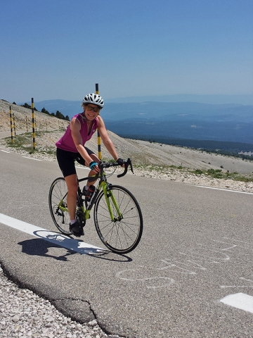 Female Cyclist on Mont Ventoux, Bedoin Ascent