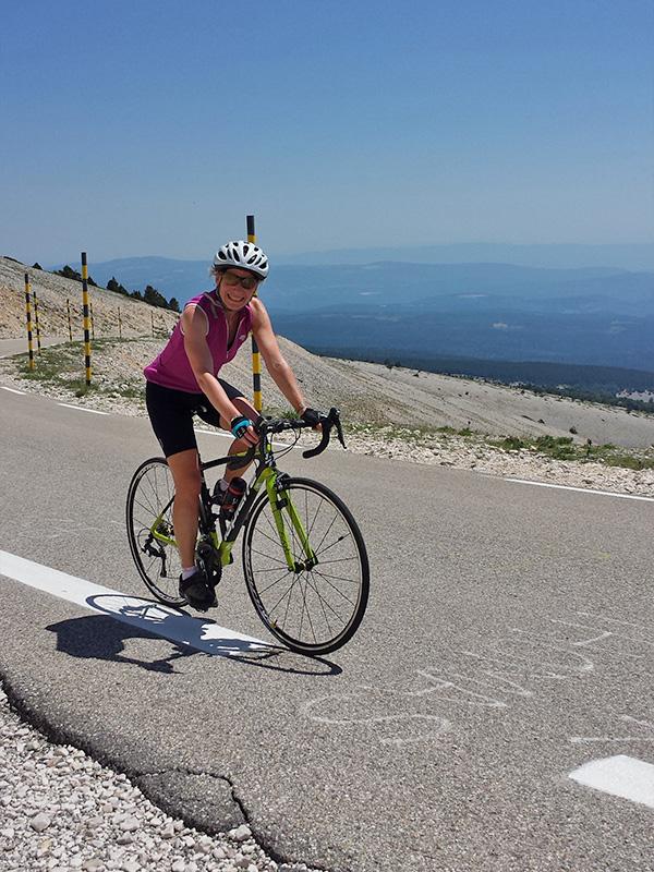 Female Cyclist on Mont Ventoux, Bedoin Ascent