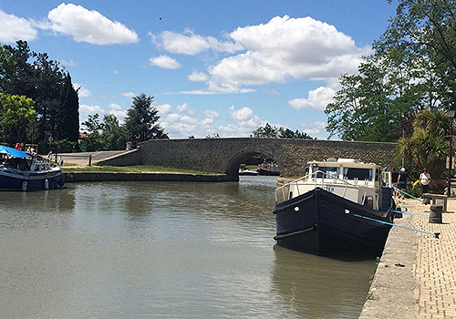 Canal du midi, Capestang, Languedoc