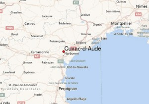 Map showing location of Cuxac-d-Aude