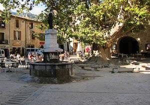 St Guilhem le Désert, Central Square, Languedoc