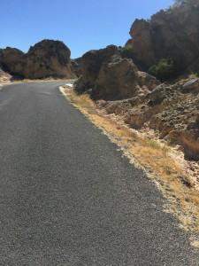 Road cycling route at Cirque de Moureze, Languedoc