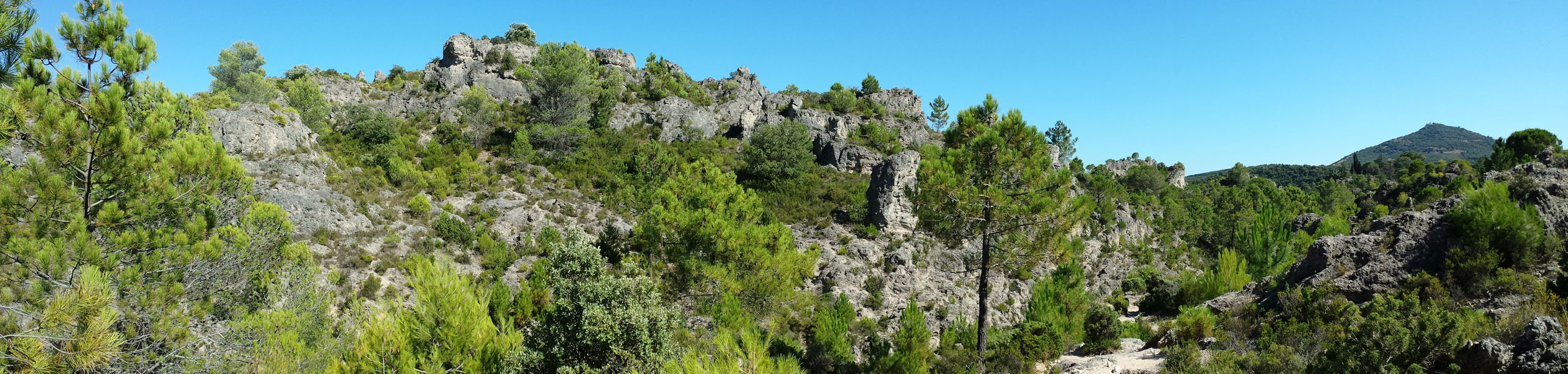 Panoramic view of Cirque de Moureze, Languedoc