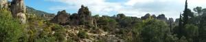 Panoramic view of Cirque de Moureze