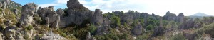 Panoramic view of Cirque de Moureze, Languedoc
