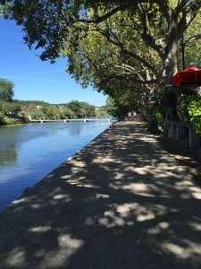 River walkway in Sommieres