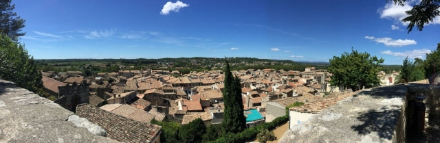 Panoramic of rooftops from Sommiere castle