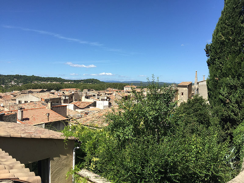 View over the rooftops of the town of Sommieres, Gard, Languedoc