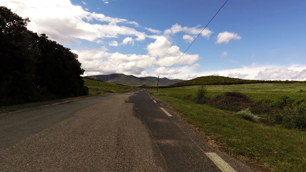 Cycling route in Haut Languedoc