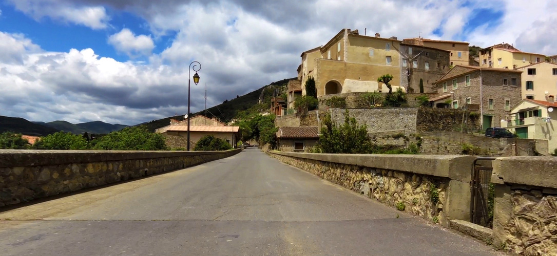 Entering Roquebrun, Languedoc