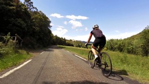 Cyclist in Haut Languedoc