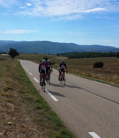 Road cycling: start of the Sault ascent of Mont Ventoux