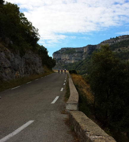 Cycling in the Gorge de la Nesque