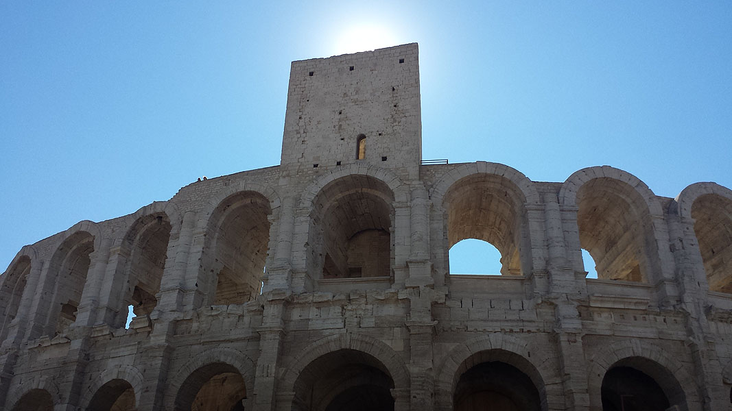 View of Roman Amphitheatre, Arles, Provence