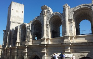 Remains of Roman Amphitheatre in Arles, Provence