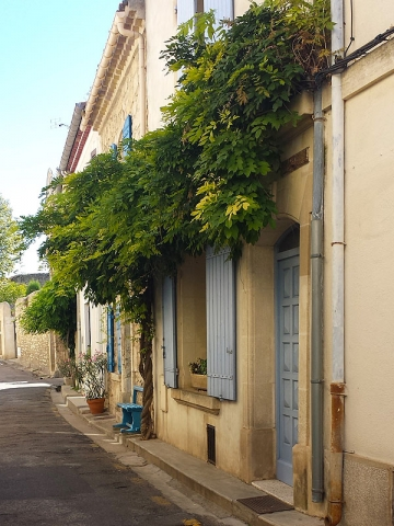 Quiet sidestreet in Arles, Provence