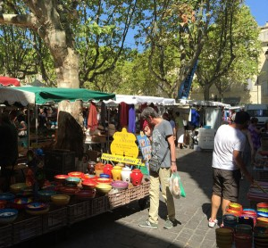 Artisans at Market Day in Uzès, Languedoc