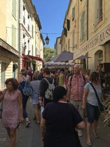 Market day in Uzès, Languedoc