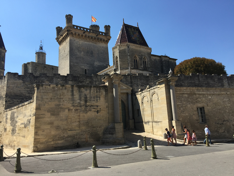 Le Duché, an impressive castle belonging to a ducal family of old, Uzès, Languedoc