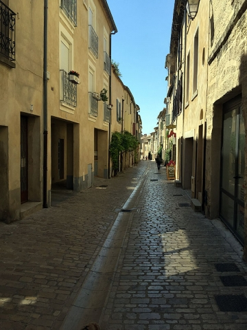 Cobbled streets of Uzès, Languedoc