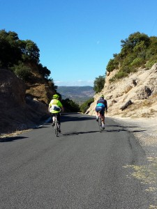 Cycling at the Cirque de Moureze, Languedoc