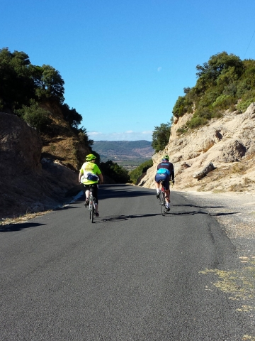 Cycling at the Cirque de Moureze, Languedoc