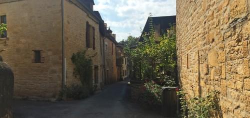Quiet street in Dordogne village, France