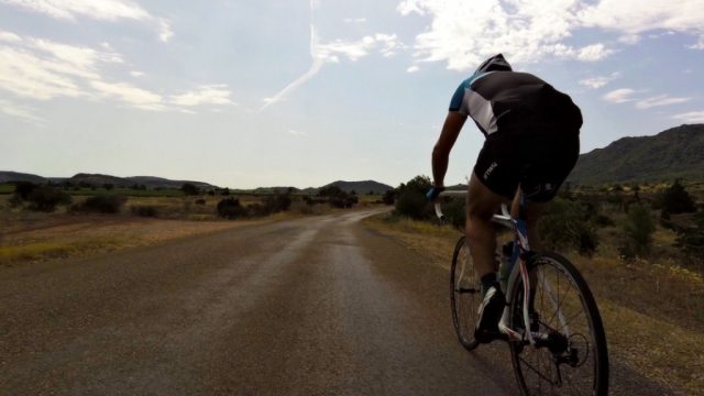 Road cycling near Lac Salagou, Languedoc