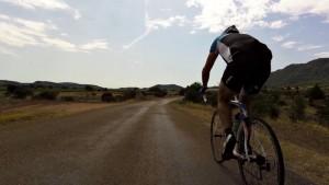Road cycling near Lac Salagou, Languedoc