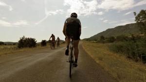 Morning cycle ride near Lac Salagou, Languedoc
