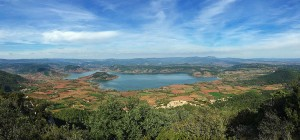 View over Lac Salagou, Languedoc