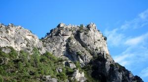 Ruin on Hilltop, St. Guilhem le Desert, Languedoc