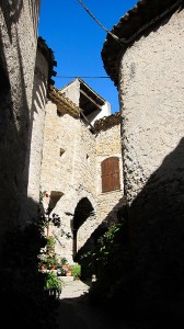 Courtyard of Village House, St. Guilhem le Desert, Languedoc